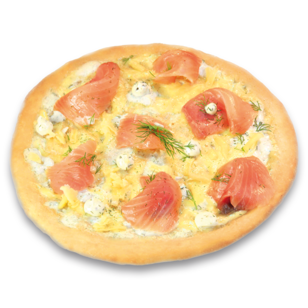 Lachs Pizza