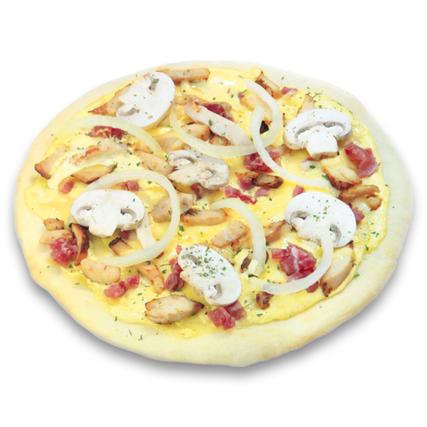 Chicken Hollandaise Pizza